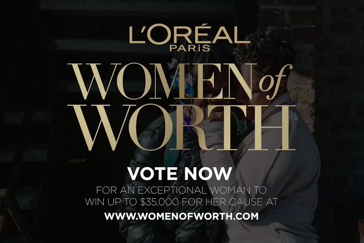 A big shout out to @LOrealParisUSA for celebrating amazing everyday women who are making a powerful difference in their communities! Vote now at WomenofWorth.com to help one honoree win up to $35K towards her cause 🤗 #partnerpost