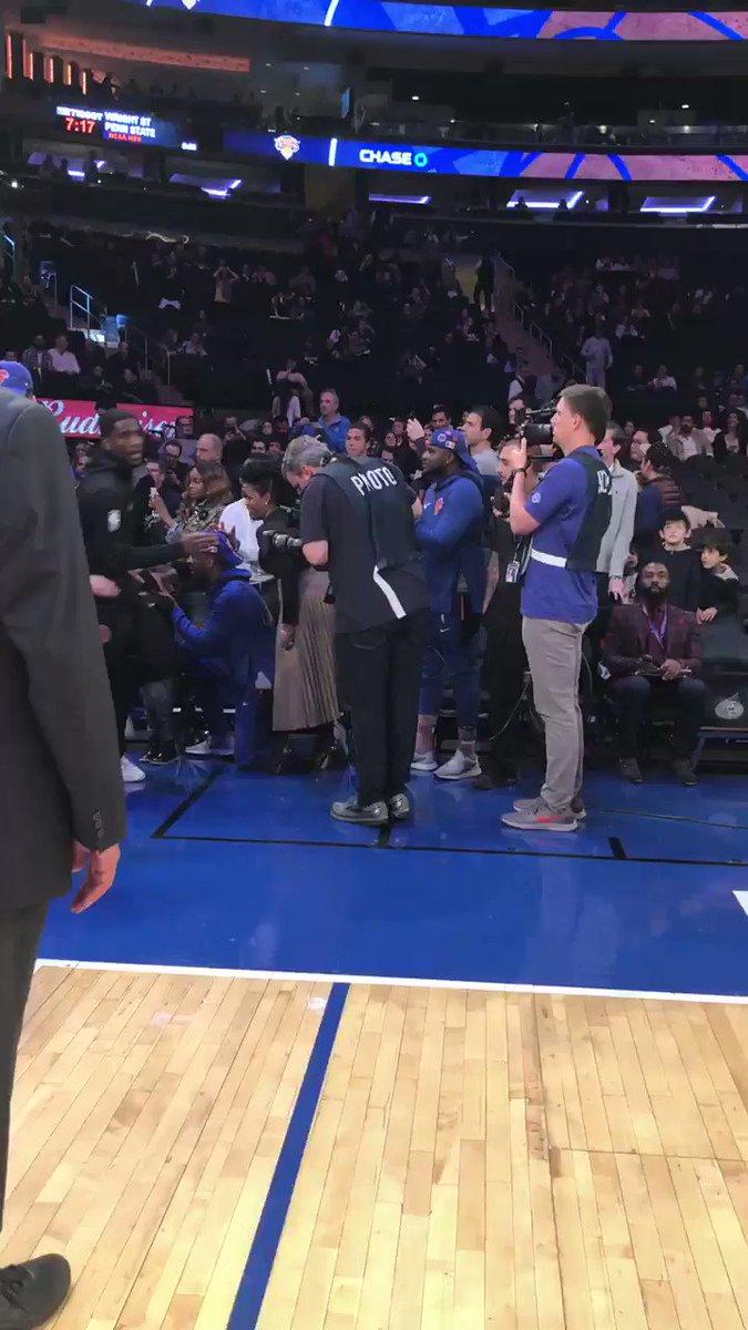 The @nyknicks take the floor!  📺: @NBATV