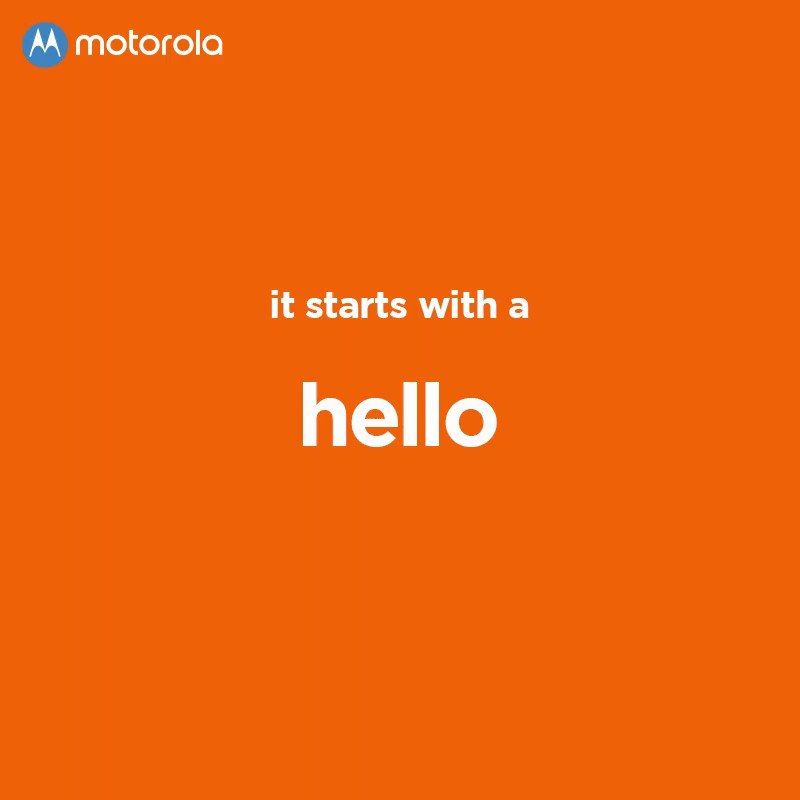 Motorola India's photo on #WorldHelloDay