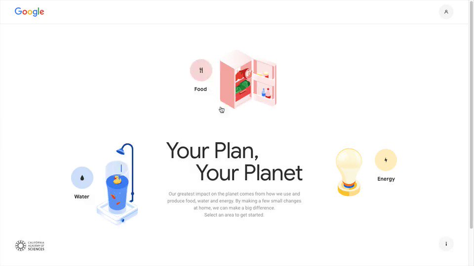 This site about sustainability from @google and @calacademy is packed with fun and informative SVG animations: …https://yourplanyourplanet.sustainability.google/