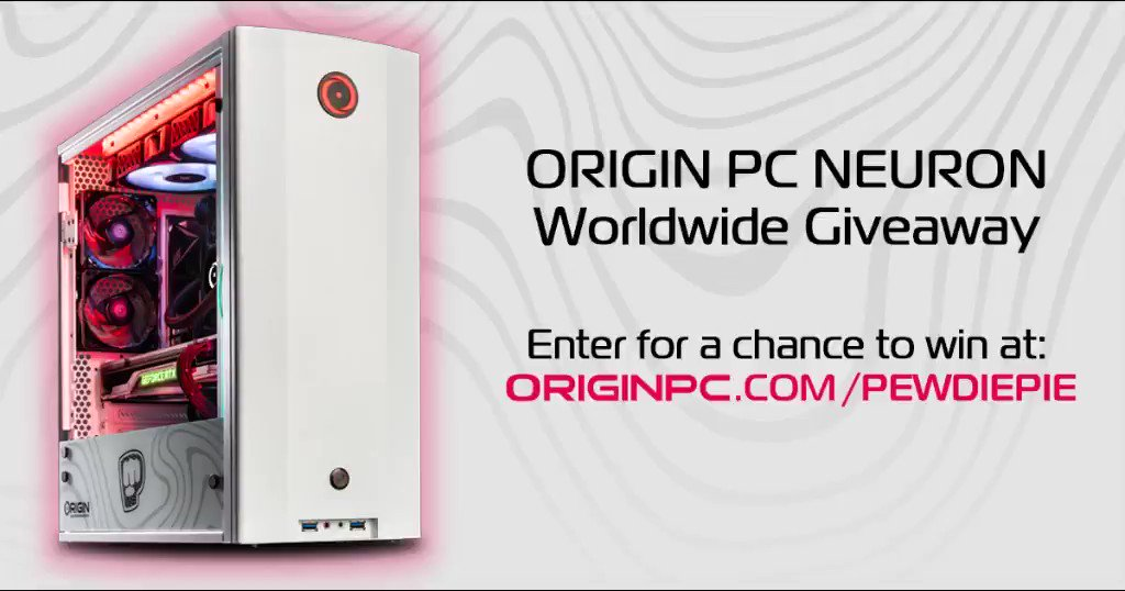 🌎🎁 [WORLDWIDE GIVEAWAY] 🎁🌎  We've partnered with PewDiePie to giveaway a custom NEURON!  🎁: PewDiePie-inspired NEURON Gaming Desktop 👨👨👧👧: TAG YOUR FRIENDS 💓: SHARE, LIKE, & FOLLOW @originpc @pewdiepie 👉: CLICK HERE TO ENTER: http://www.originpc.com/pewdiepie