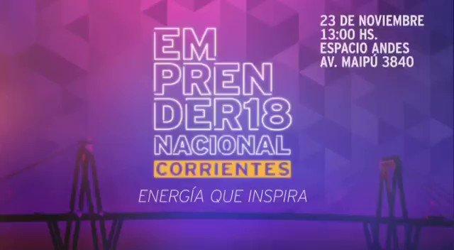 ¡Falta muy poco para encontrarnos en el evento joven más importante del año! La energía emprendedora de todo el país tiene cita mañana 23/11 en el Emprender Nacional Corrientes 2018.  Inscribite acá 👉 http://bit.ly/emprender18  #EmprenderCAME #EnergíaQueInspira