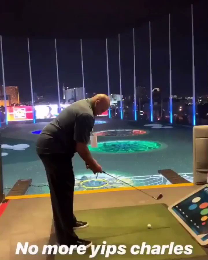 Did Charles Barkley miraculously cure his swing yips?