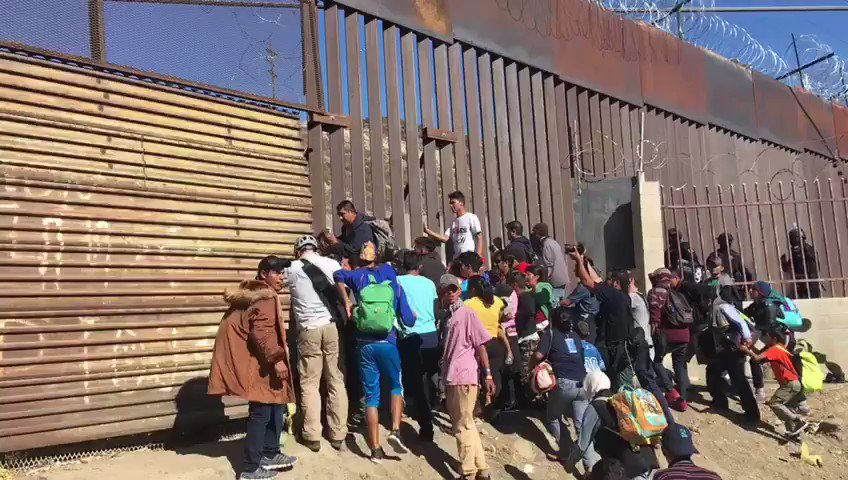 llegal invaders broke through border fence earlier, but were thankfully met with smoke pellets & pepper spray by US Border Patrol. This is an invasion, fully funded by George Soros Open Borders groups to usher in Democrat voters and take over our country.