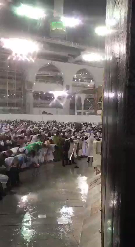 mashalla Makkah is pounding with rain