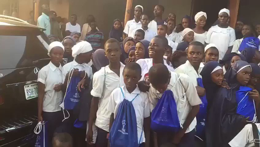 Visited A School Inn Badarawa District Kaduna State Were I Was Born & Handed Out Educational Backpack,Very Nice To See Smiles On Our Leaders Of Tomorrow... #1girl1pen #Eduplus #TheBlackBull #KeepingItReal
