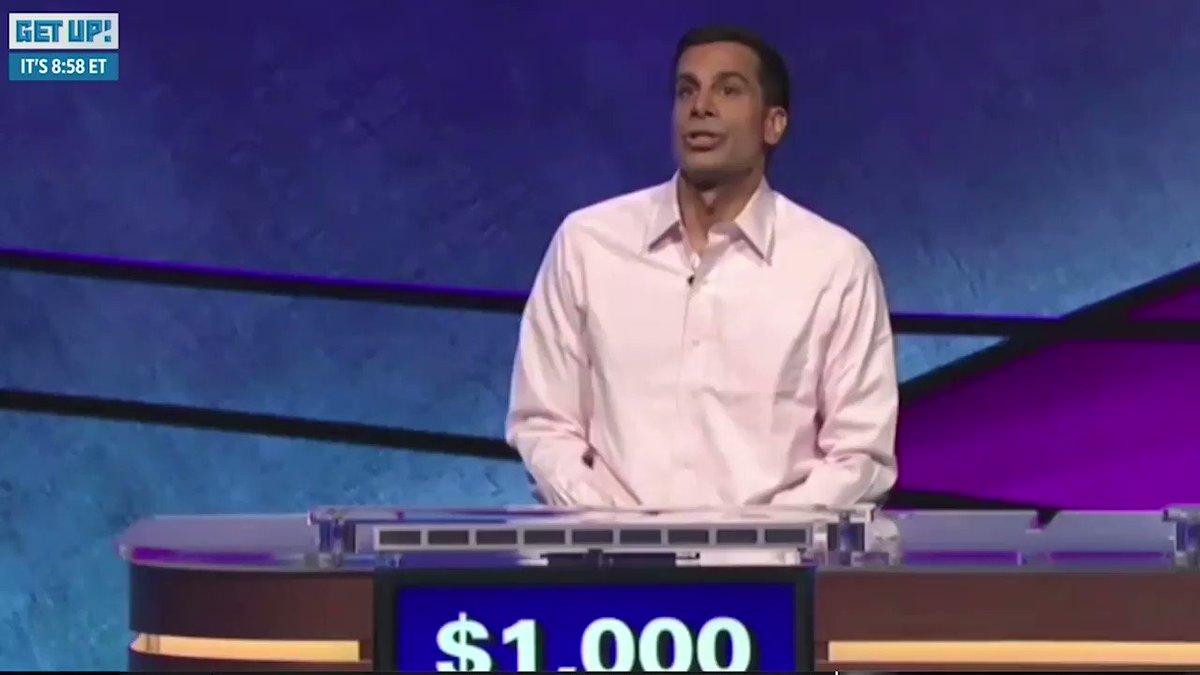 Alex Trebek, wya? @Jeopardy