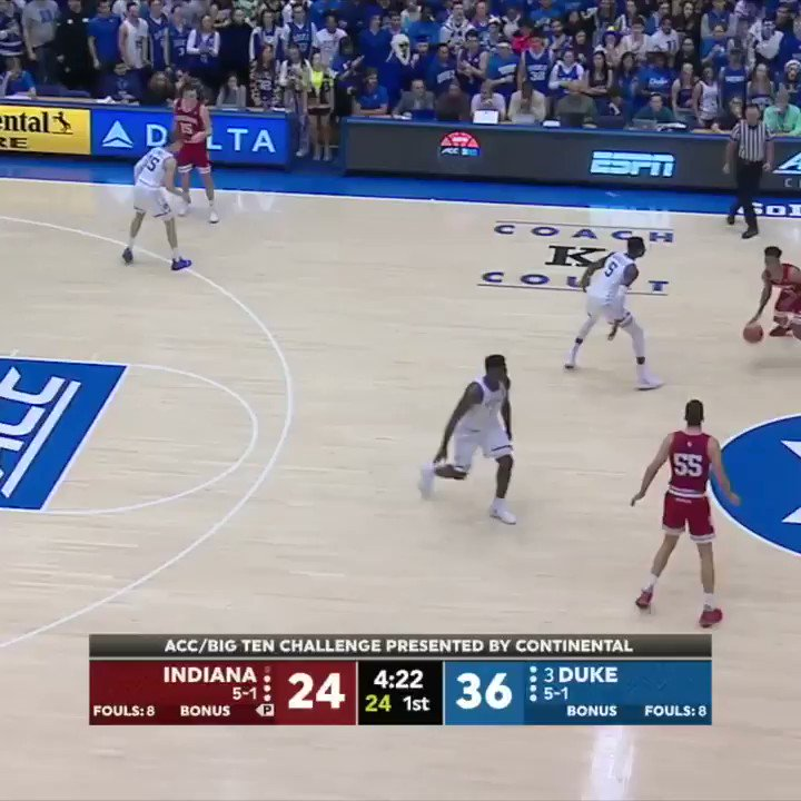 Duke's Zion Williamson wows with monster dunk against Indiana