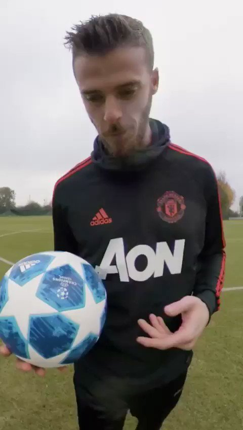 Training with @adidasfootball and the best goalkeeper in the world  @D_DeGea? 😉⚽️