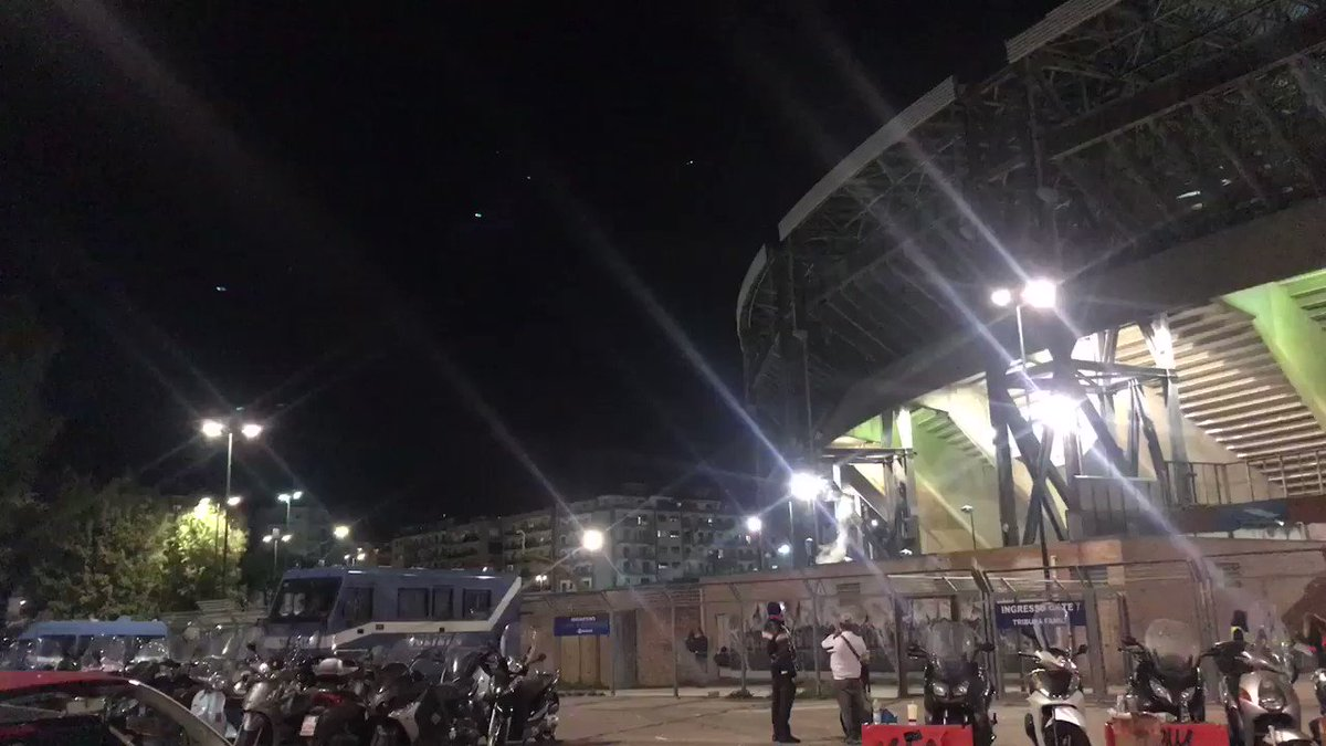 "MOTHER OF GOD!  Listen to Napoli's San Paolo stadium screaming ""THECHAAAAAMPIONS""  from OUTSIDE!"