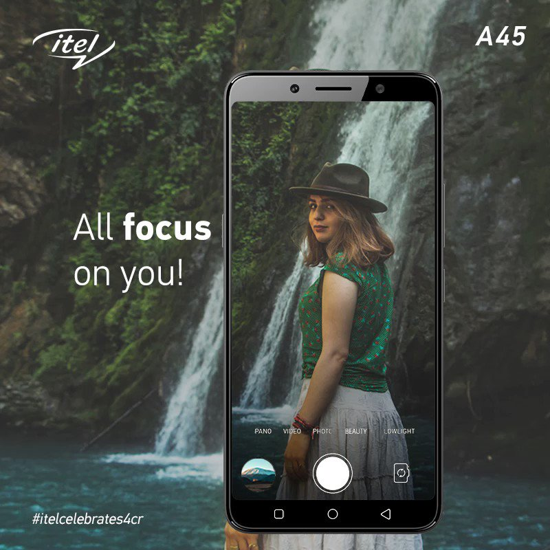 With itel A45's dual rear camera and bokeh effect, focus on the details which matter the most in just INR 5,999! #itelcelebrates4cr
