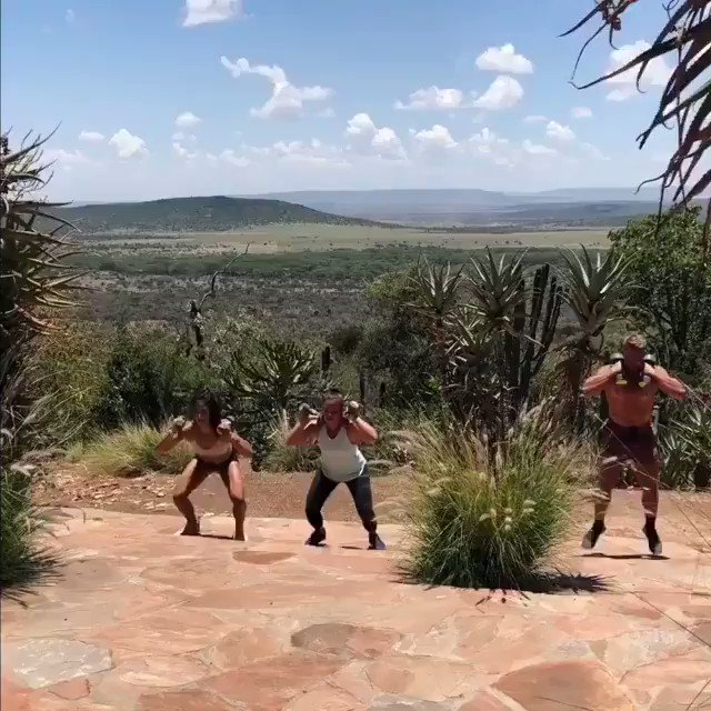 VACATION WORKOUT. #TBT 3 RFT: 30 push-ups 3 sets of dumbbell squat stair jumps 200m Run Then FOR TIME: 20 burpees 200m run 20 devils press 200m run 20 burpees Sign up here: arcadiaactiv.org/training-progr… for access to more workouts!