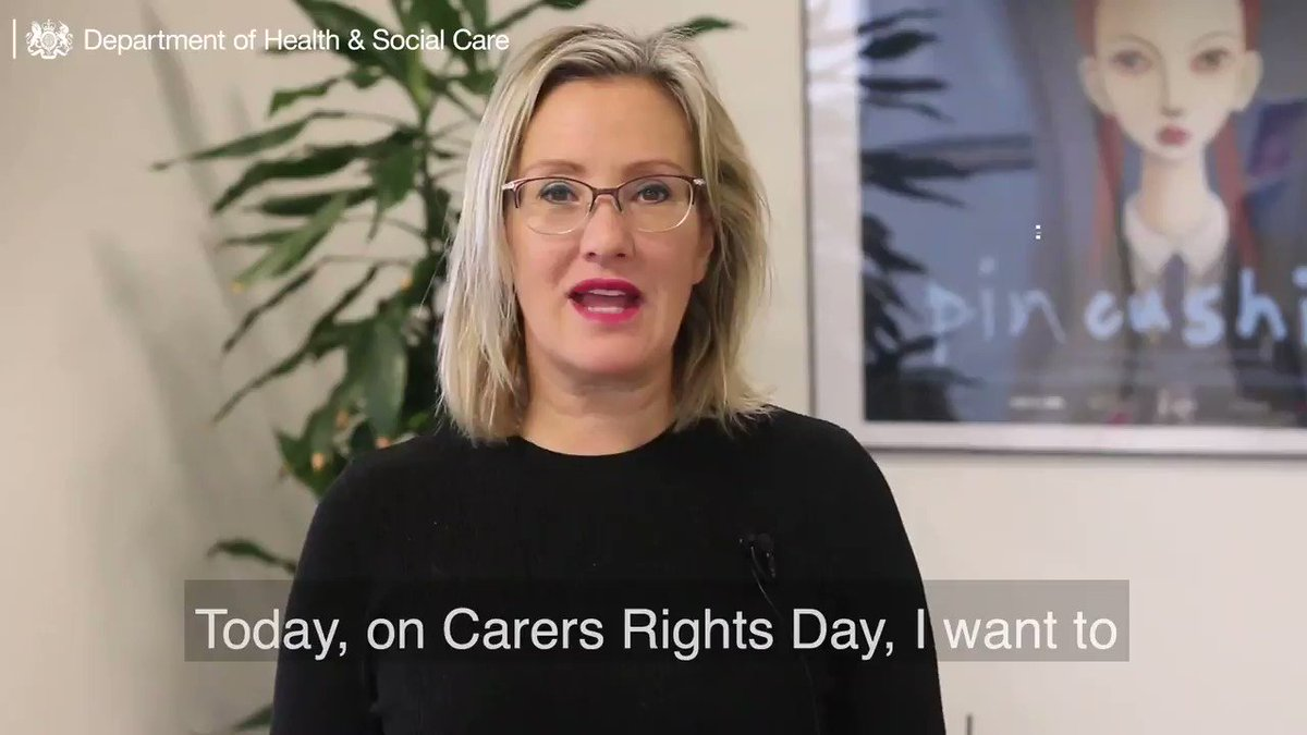 Image for the Tweet beginning: On #CarersRightsDay Care Minister @cj_dinenage
