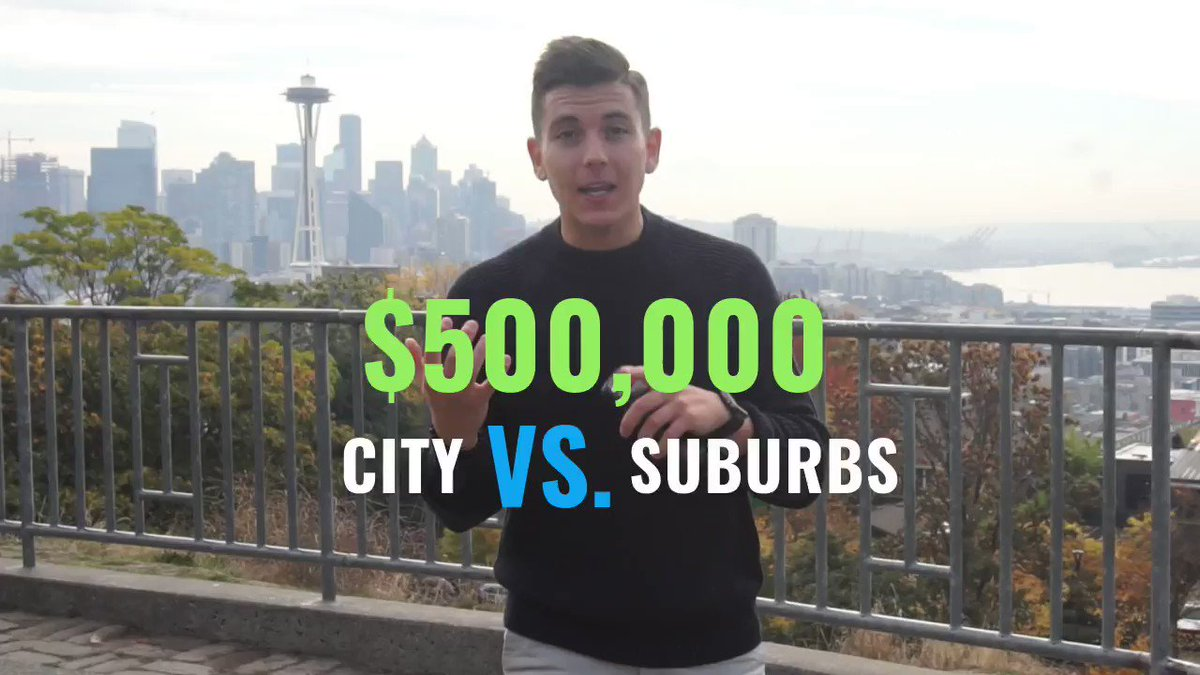 What does $500k get you in the city vs suburbs? Turns out, the difference is surprising. @mortgagereports breaks it down at https://t.co/c9LiN5d2DS