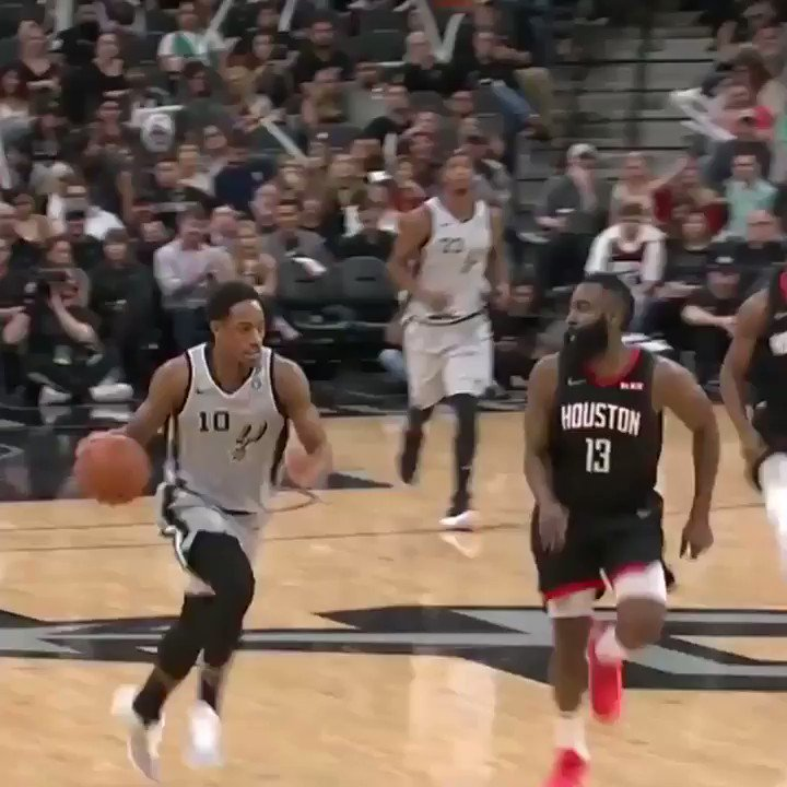 93af55518860 Watch James Harden strip the ball from DeMar DeRozan without looking