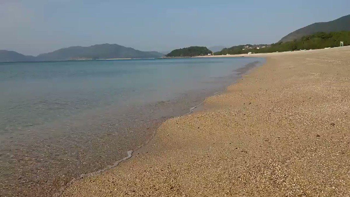 ひかりの水の音@虹ヶ浜海水浴場 https://t.co/DRw1hFfDq3