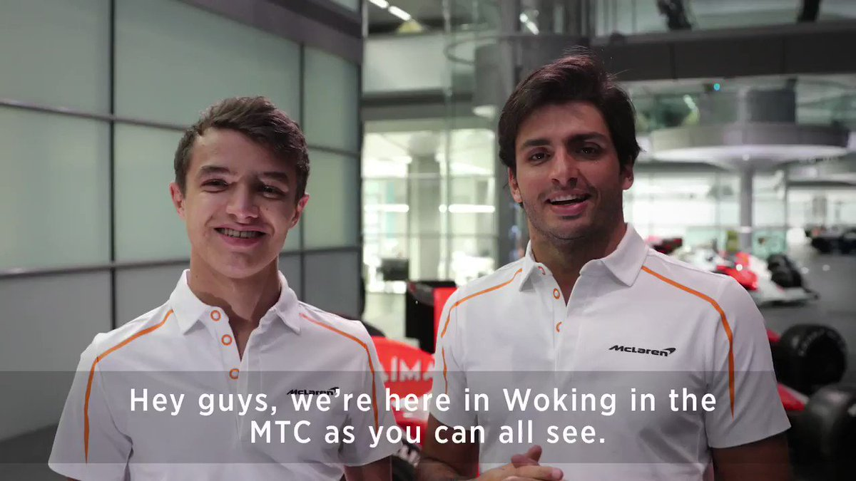 Look who we found at the MTC today. 👀 @Carlossainz55 and @LandoNorris stopped by with a message for you all. 👍
