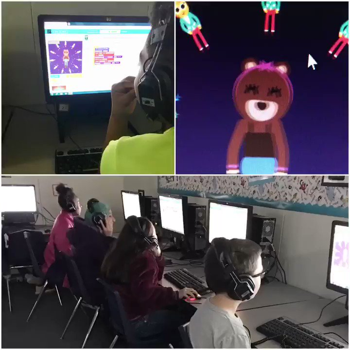 The computer lab is rocking the Blue Jay nest with #HourOfCode! #fbisdlearns @fbisdstem #ocebluejays #OCE20thAnniversary