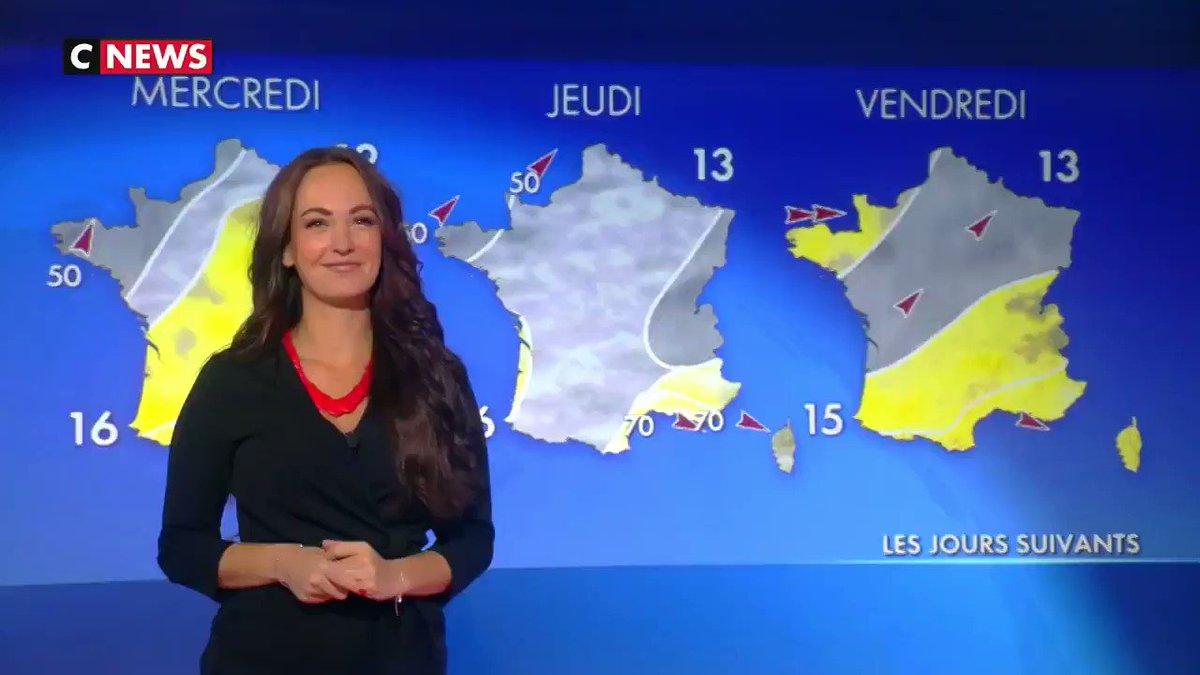 [vidéo] #Météo @CNEWS #LaMatinaleInfo 04/12/2018 avec ladorable @alexandrablanc3 😍 😘🌍 ☀️⛅️🌧🌩☔️ ® @Mcom27 & @LesMisSters