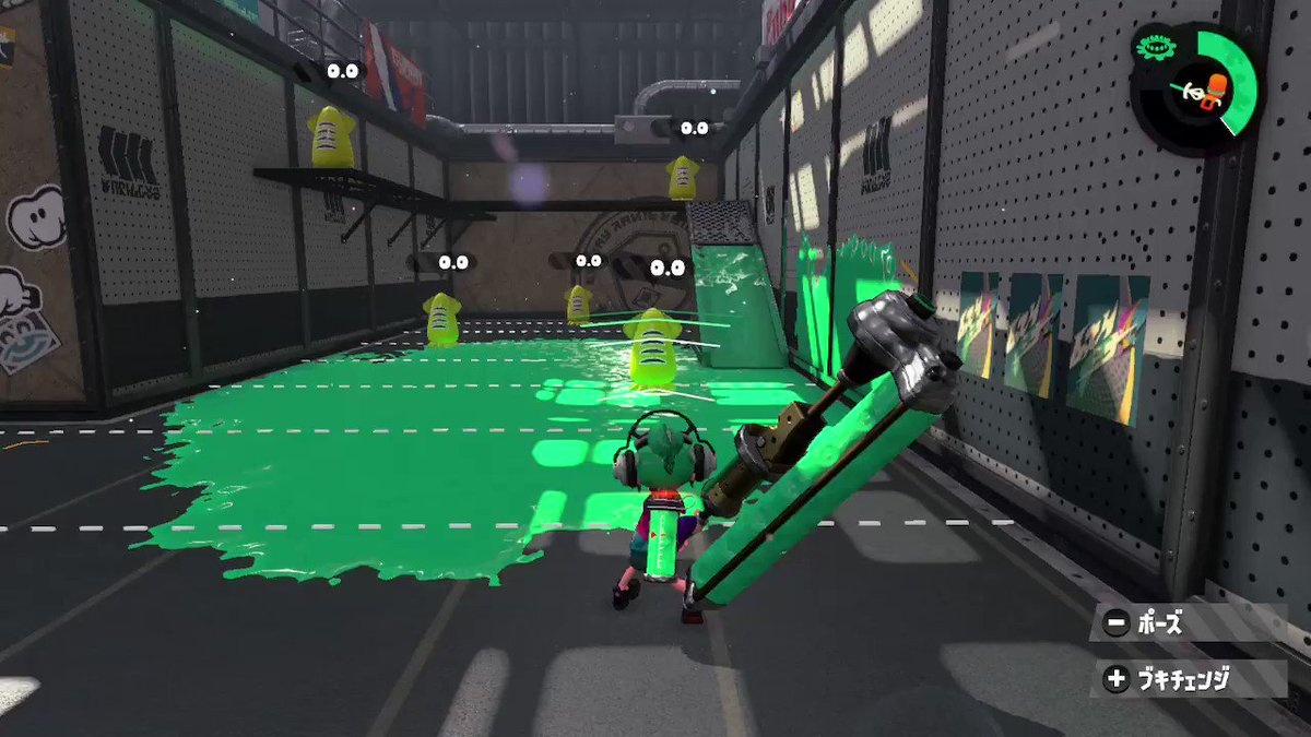 メイン強化2.5ダイナモ横振り  #Splatoon2 #スプラトゥーン2 #NintendoSwitch https://t.co/ceA9pZKdOK