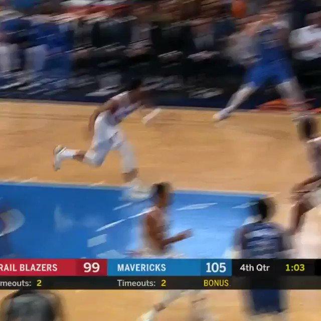 Luka. Step back. Ball game. #NBARooks
