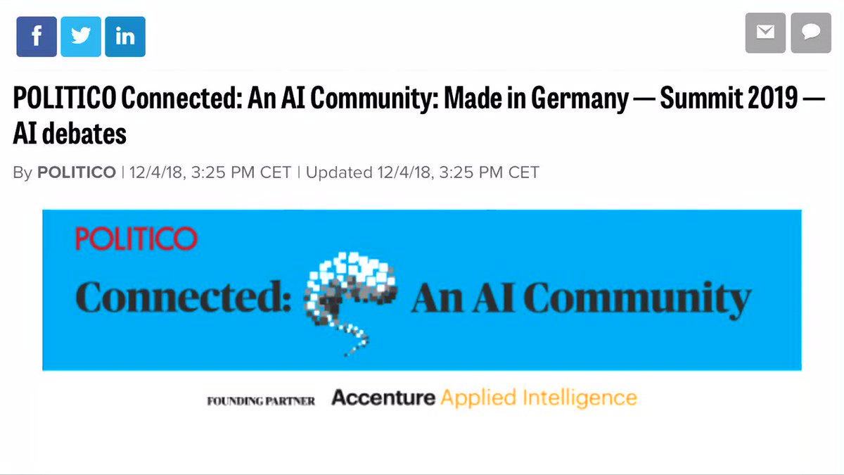 Did you catch the #POLITICOAI newsletter? Well there's a big part dedicated to the upcoming AI Summit! You can find out more today by going to https://t.co/iv7Ha232qO. See you in Brussels on March 18-19.