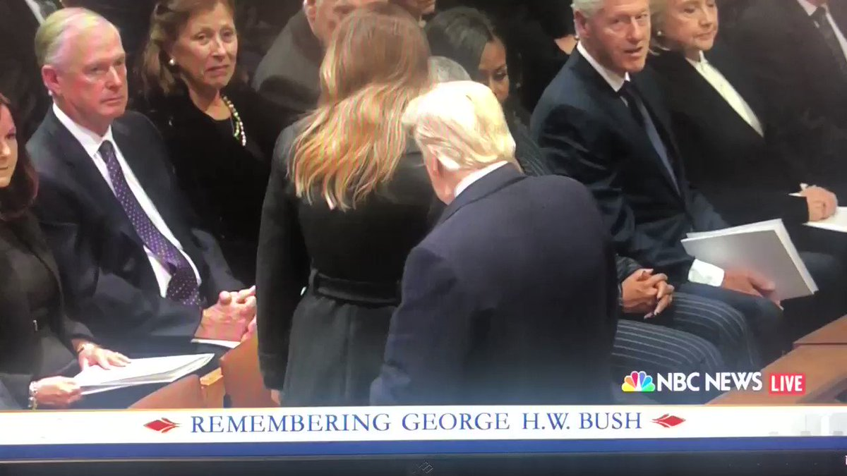 RT @TheRoot: Like the North, Hillary remembers.  #GeorgeHWBushFuneral https://t.co/Fc8o9sqHiB
