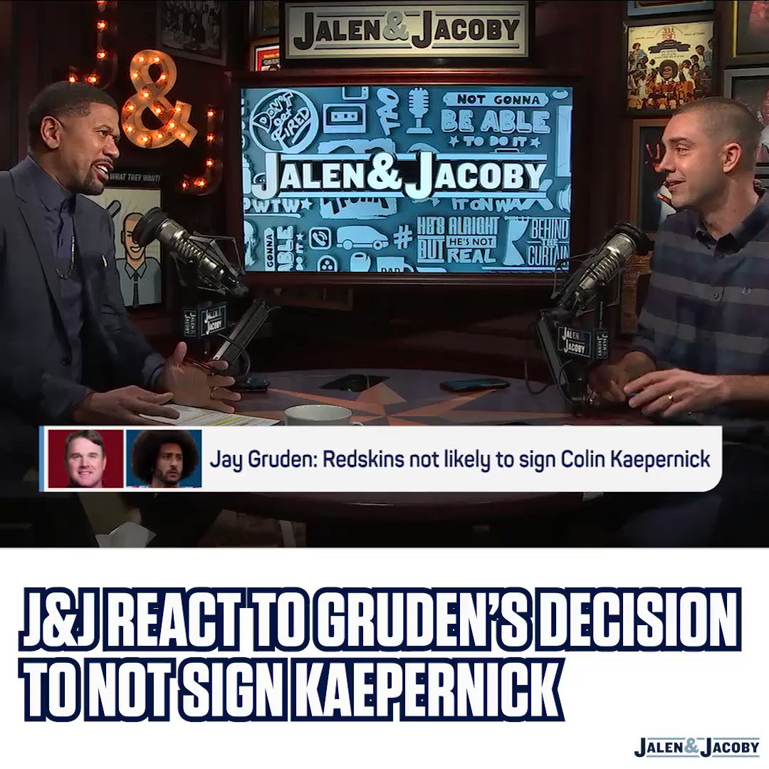 .@Kaepernick7 will win his collusion case. @jalenandjacoby