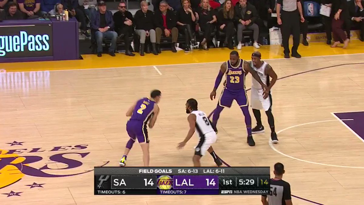 LONZO. WITH. AUTHORITY. ����  #LakeShow on ESPN https://t.co/CiufCGTXck