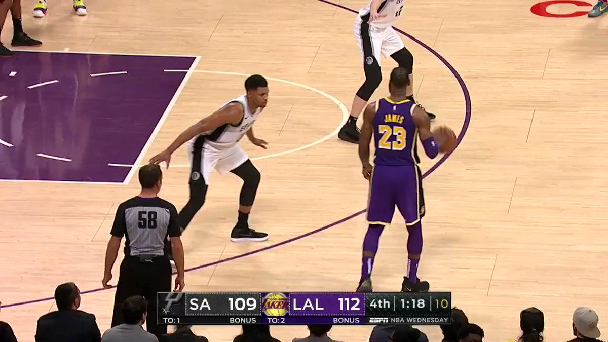 41 PTS FOR LEBRON JAMES! ��  #LakeShow 117 #GoSpursGo 111  41.4 to go on ESPN https://t.co/ygxfvENfH8