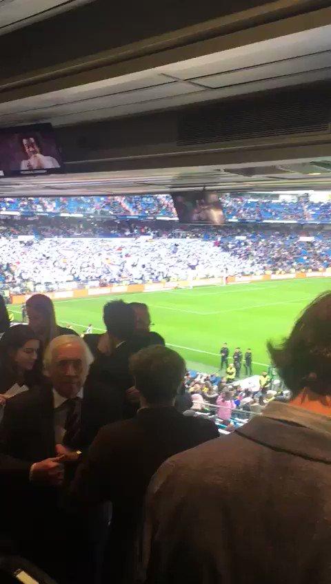 Así está hoy el Bernabéu, escenario de la Gran Final entre @BocaJrsOficial y @CARPoficial 🏆⚽️