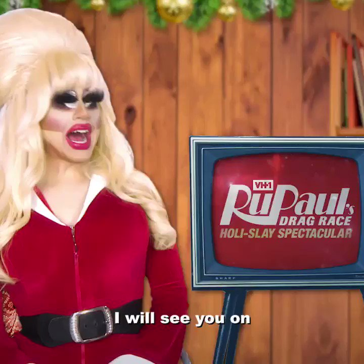 From the werk room to the stock room at CVS, don't forget to make your holiday a Holi-SLAY (spectacular!) ❄️ @trixiemattel & @katya_zamo are bundling up for the RuPaul's Drag Race Holi-Slay Spectacular, airing tmrw @ 8/7c on @vh1 and in select territories on #WOWPresents Plus! 🎄