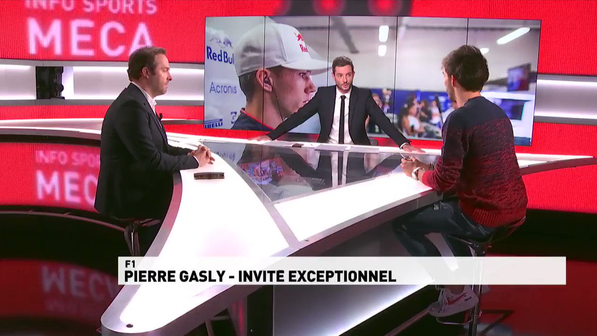 """Pierre #Gasly, quels défis en 2019 ?  @PierreGASLY 💬 """"Je dois continuer de progresser. Le challenge @redbullracing est un beau défi qui me rapproche de mon objectif final : être champion du monde de #F1 un jour.""""  #InfoSportsMeca"""