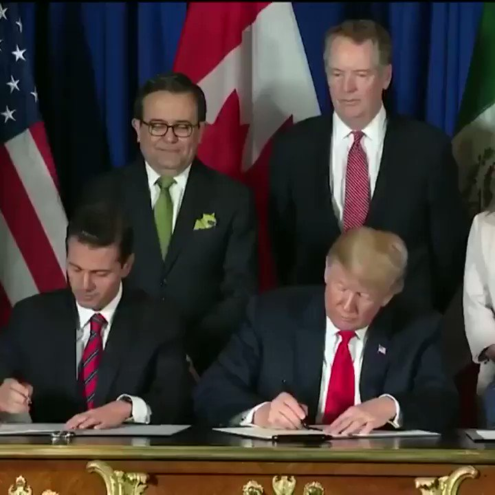 Each world leader realizes Trump mis-signed NAFTA 2.0 The entire world is laughing at Trump. What an embarrassment he is to the U.S. #TheResistance #MAGA #Trump #Resist #ImpeachTrump