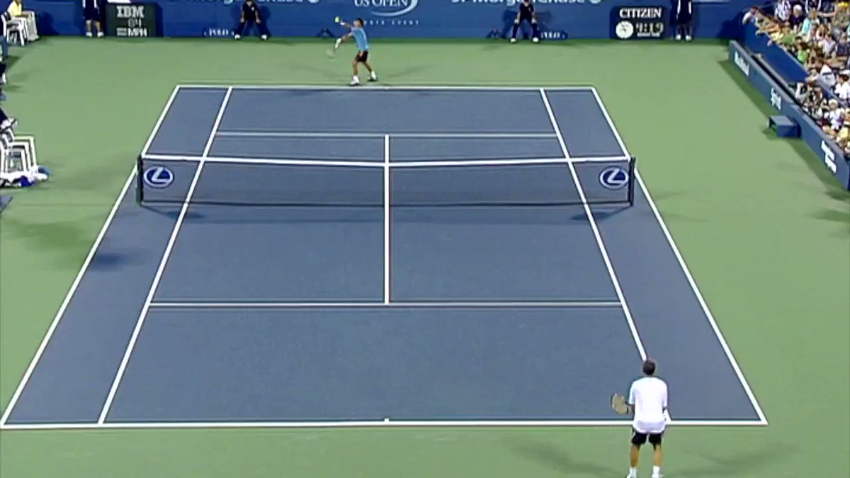 For the tennis purists out there... 🇮🇹Sanguinetti v 🇹🇭Srichaphan #FlashbackFriday 🔥🎥: 2005 #USOpen