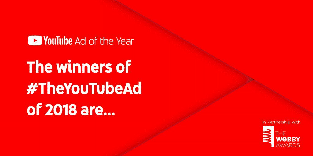 No te puedes perder toda la creatividad de los ganadores de #TheYouTubeAd 📹💡, iniciativa de @YTAdvertisers y @TheWebbyAwards para que las personas votaran por sus anuncios favoritos del año. ¡Haz clic y descubre los resultados! → https://goo.gl/Vj6KSR