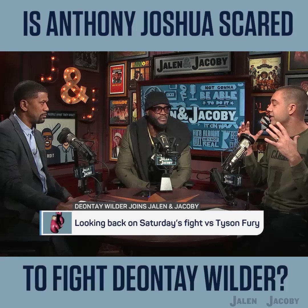 Is Joshua ducking Wilder??? @jalenandjacoby