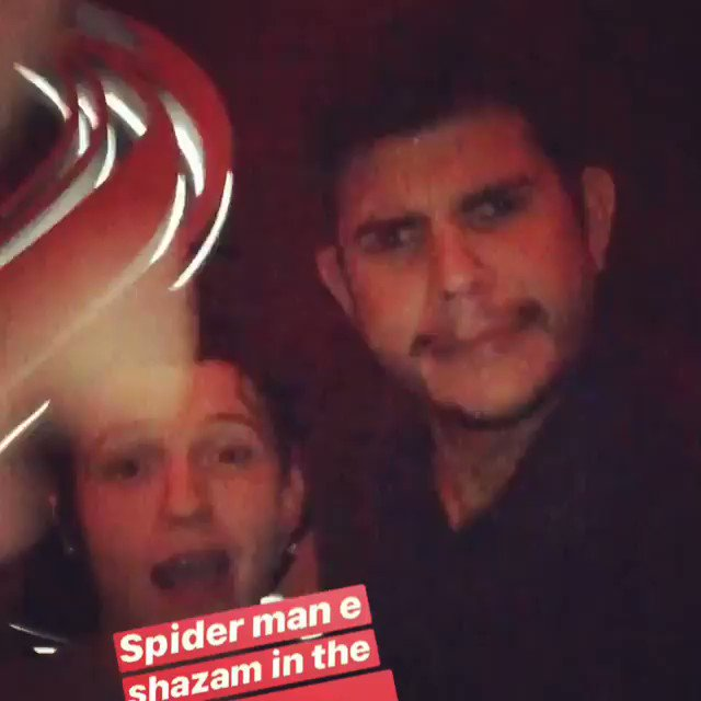 Tom Holland at Brazilian Party in Sao Paulo last night ( he was with Zachary Levi who play Shazam)