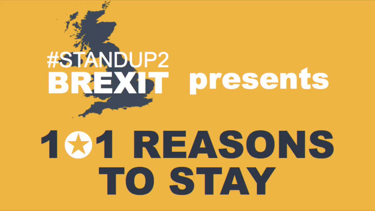 Why Remain in the #EU? Whats the EU ever done for us? Here are 101 REASONS TO STAY IN THE EU What other reasons would you add? (We may do a sequel!) #Marr #Peston #Ridge #101ReasonsToStay #politics #economics #UK