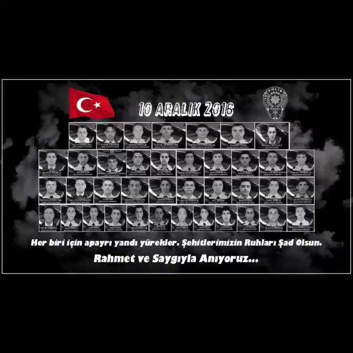 Bugün sadece Siyah...   10 Aralık 2016   Hain terör saldırısında kaybettiğimiz şehitlerimizi saygı ve rahmetle anıyoruz...