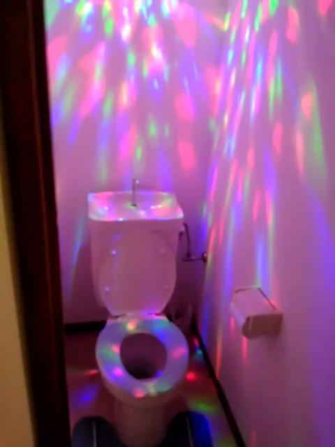 トイレの電球がきれたので交換した