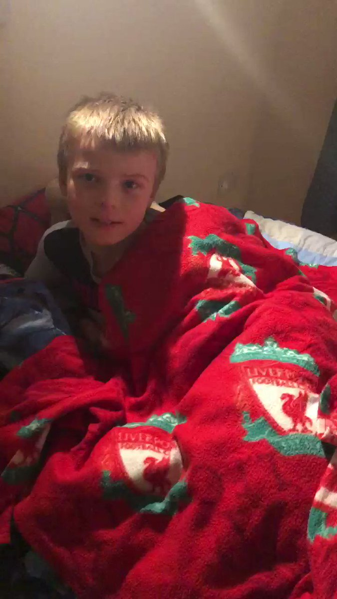 So excited he can't sleep .... ⚽️⁦⁦@MastercardUK⁩ ⁦@LFC⁩ ⁦@UEFA⁩ #PricelessMascot