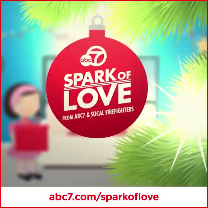 We have one more #SparkofLove Stuff-a-Bus event this season! Join ABC7 and SoCal firefighters at the Honda Center in #Anaheim, Friday 4am-6:30pm. Well be collecting toys and sports gear for kids and teens in need. We hope to see you there! #ToyDrive abc7.com/sparkoflove.