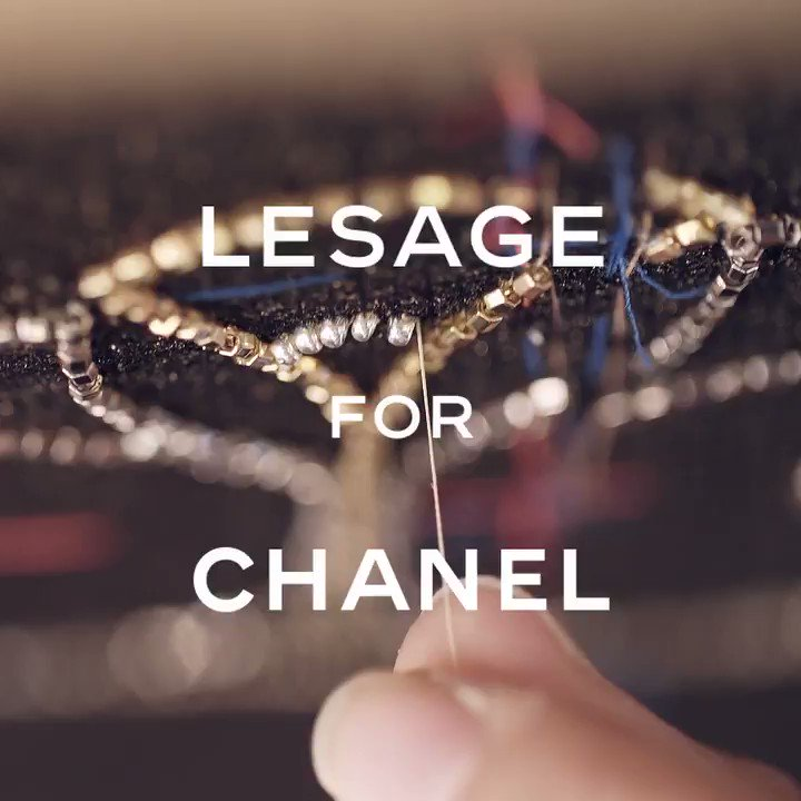 A rich, mineral palette informs the sumptuous adornments by the House of Lesage that appear as trims and ornaments on hand-embroidered straps, bodices, breastplates and shoulders. #CHANELMetiersdArt #CHANELinNYC More on http://chanel.com/-T-MDA18-19