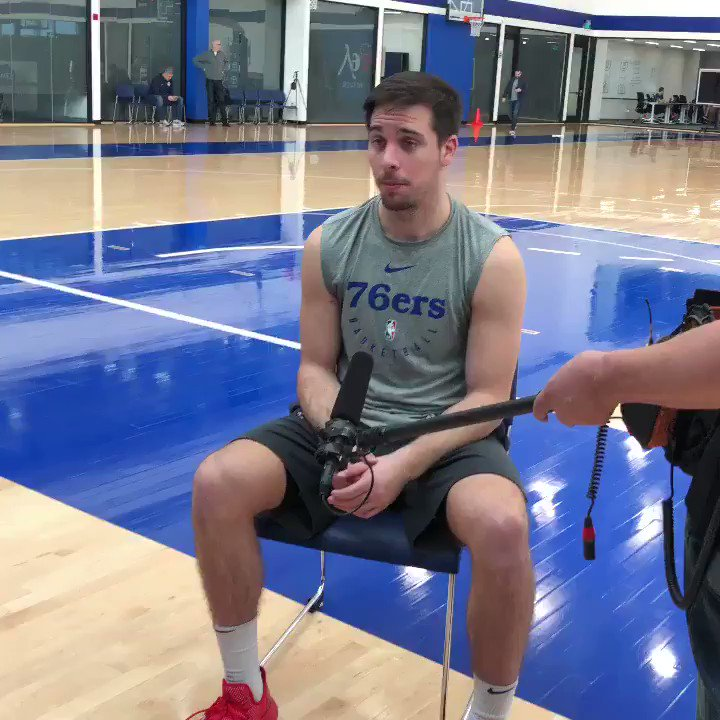 """""""He's been great for us.""""  TJ McConnell discusses what Jimmy Butler brings to the table for the @sixers. #SixersAllAccess"""