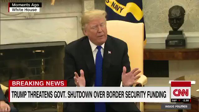 Image for the Tweet beginning: #DonaldTrump clashes with #NancyPelosi, #ChuckSchumer