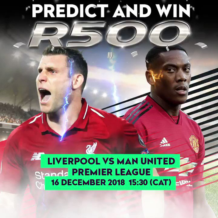 Predict & Win Competition  This weeks P&W is LIVERPOOL VS MAN UNITED, get involved and Stand a chance to be one of our winners receiving R500!   Enter here http://supapredict.supabets.co.za/liv-vs-mut/   #P&W #ManUnited #Liverpool