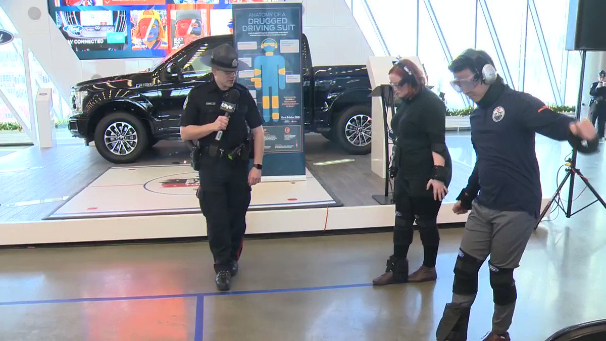 Today I tried out a #Drug impairment suit. Think I look silly? Well, it's 1 million times more silly to get behind the wheel having had alcohol, drugs or other impairing substances. See how I do on @CityNewsYEG #VisionZero #yeg