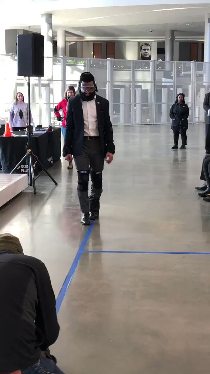 Walking the line is not easy!  These suits demonstrate what it feels like to be impaired... now imagine getting behind the wheel. #impaireddriving #fordimpairedsuit #yeg @FordCanada