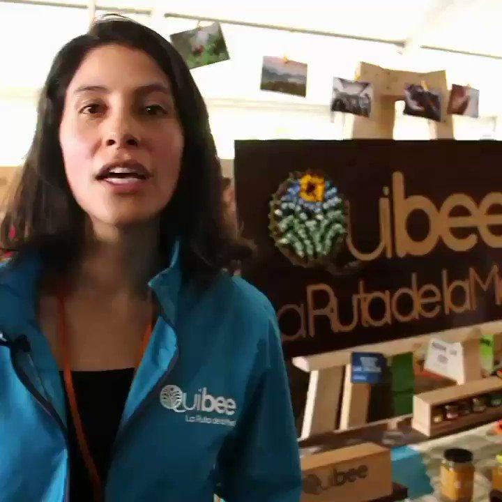 #expoartesanias mostrando un poco de nuestros productos #Quibee de @RutadelaMielCol te esperamos!!